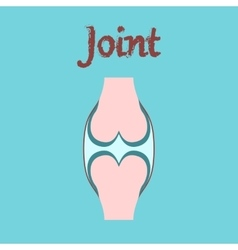 Human organ icon in flat style joint vector