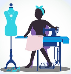 Seamstress vector