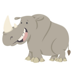 Rhino cartoon animal character vector