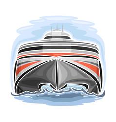 High-speed ferry catamaran vector