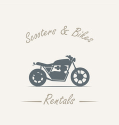 Sale and rental of motorcycles vector