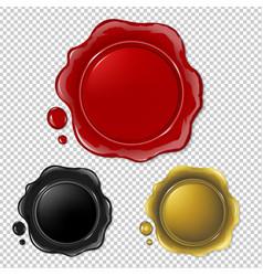 Wax seal collection vector