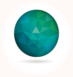 Low poly circle vector