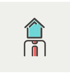 Real estate agent thin line icon vector