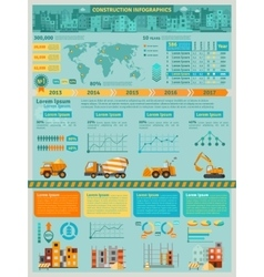 Construction infographics set vector