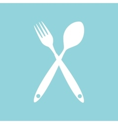Background with forks spoons vector