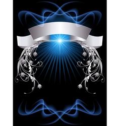 glowing ribbon banner vector image