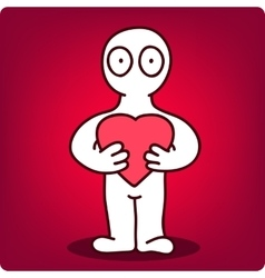 person with heart vector image