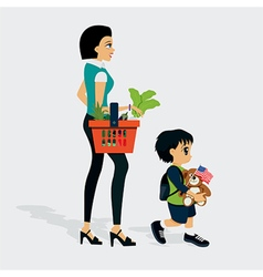 Market shopping vector
