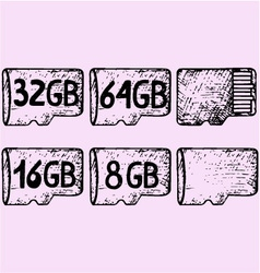 Micro sd card vector