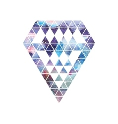 Diamond space design abstract watercolor ornament vector