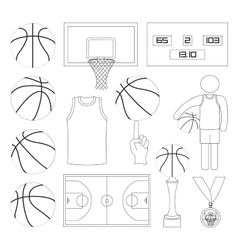 Basketball elements vector