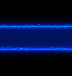 abstract line wave on blue technology background vector image vector image
