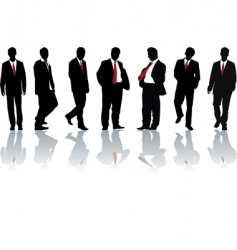 businessmen silhouette vector image