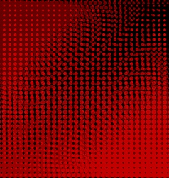 Circles black and red background vector