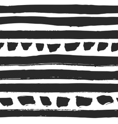 Decorative seamless pattern with handdrawn stripes vector image vector image