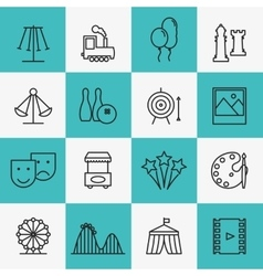 Fun and entertainment icons vector
