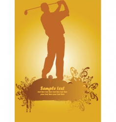 golf poster2 vector image vector image