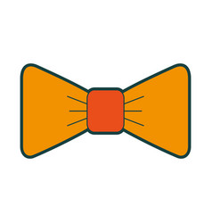 Isolated fancy bowtie vector