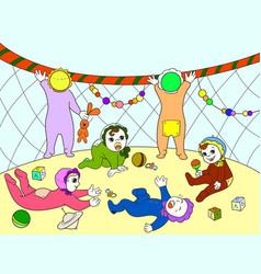 kindergarten color book for children cartoon vector image vector image