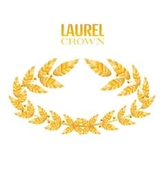 Laurel crown greek wreath with golden leaves vector