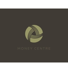 Money symbol Wealth sign Financial logo design vector image vector image