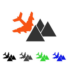 Piramides airplane crash flat icon vector