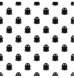 Princess dress pattern vector