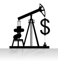 Production and sale of oil vector image
