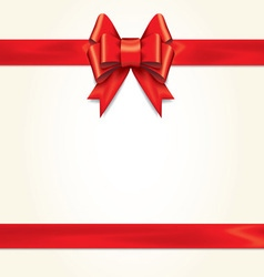 Red gift bows with ribbons vector image vector image