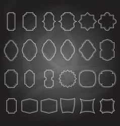 set of vintage frames background vector image
