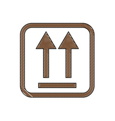 this side up packaging symbol on a corrugated vector image