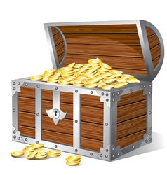 treasure chest vector image