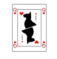 Cat queen of hearts vector image