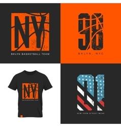 New york street wear t-shirt emblem vector