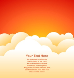 Evening sky background vector