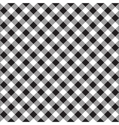 Black white checkerboard check diagonal fabric vector image