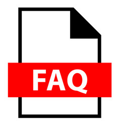 file name extension faq type vector image