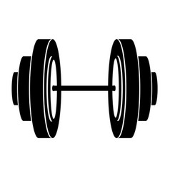 black silhouette dumbbell for training in gym vector image
