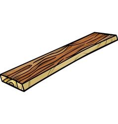 Plank or board cartoon clip art vector
