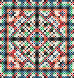 Decorative knit tile vector