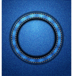 Jeans circular patch vector