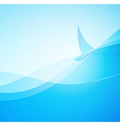 Abstract marine landscape vector