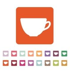 The cup icon Tea symbol Flat vector image