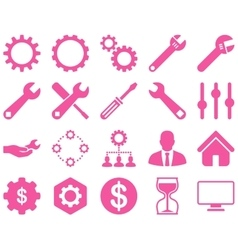 Settings and tools icons vector