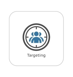 Targeting icon flat design vector