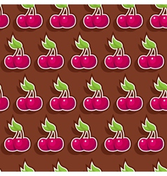 seamless chocolate cherry vector image
