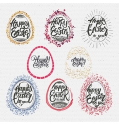Happy easter - calligraphy hand lettering vector
