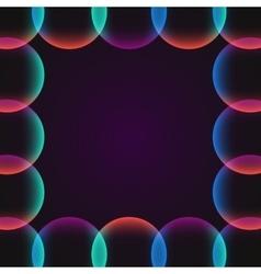 Circle abstract vibrant border vector
