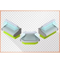 Refrigerated counter 3d vector